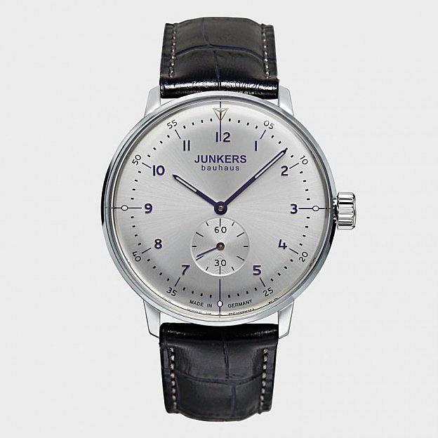 Armbanduhr Junkers Bauhaus mit dezentraler Sekunde, Handaufzug