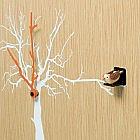 Kuckucksuhr mit Baummotiv, Eiche