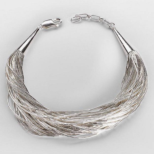 Armband mit 50 Strängen Sterlingsilber 925