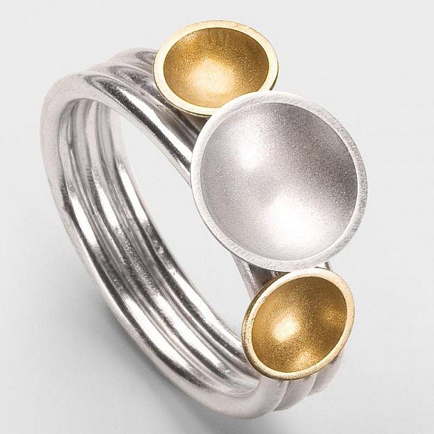 Steckring Venus Sterlingsilber/Gold