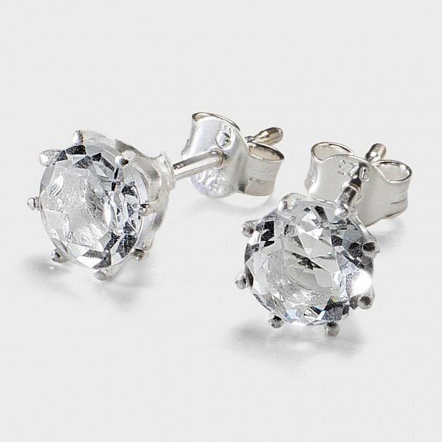 Ohrstecker Sterlingsilber/Bergkristall