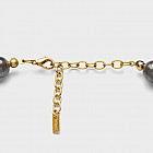 Collier Muranoglas rund, gold/grau