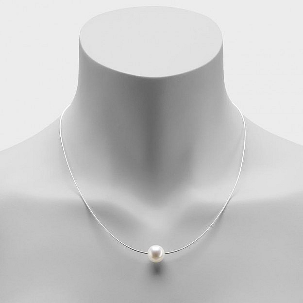 Halskette Sterlingsilber mit Süßwasserperle