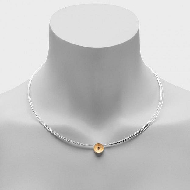 Halskette mit Anhänger Terra aus Sterlingsilber mit Brillant