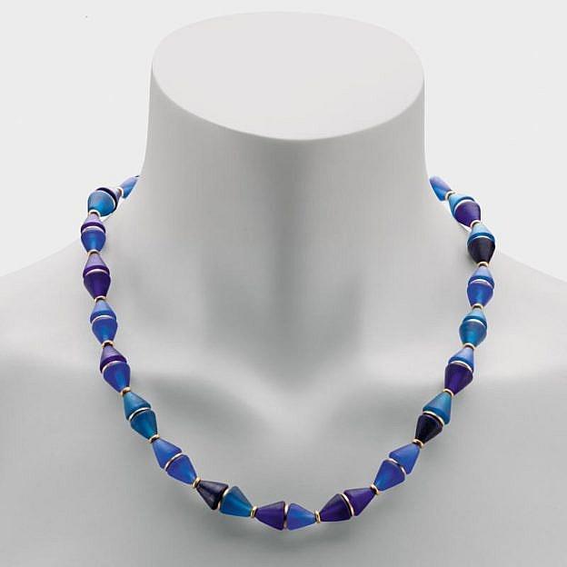 Collier Muranoglas Kegel, königsblau