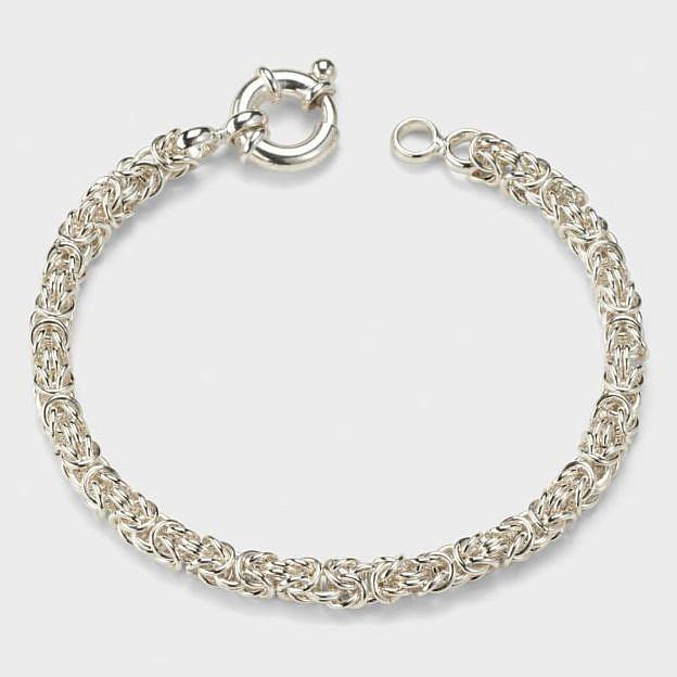 Armband Königskette, Sterlingsilber