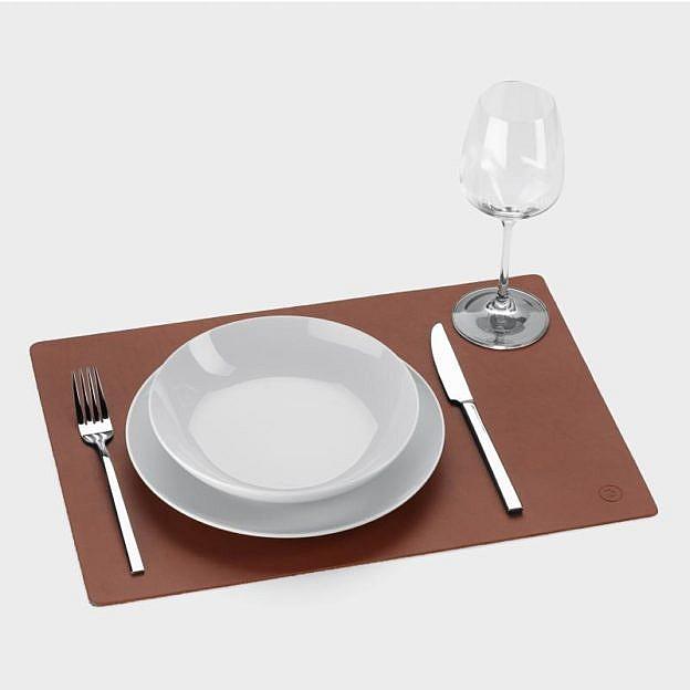 Tischset Büffelleder braun, 2er-Set