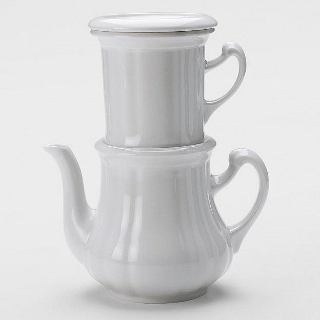 Karlsbader Kaffeekanne Porzellan