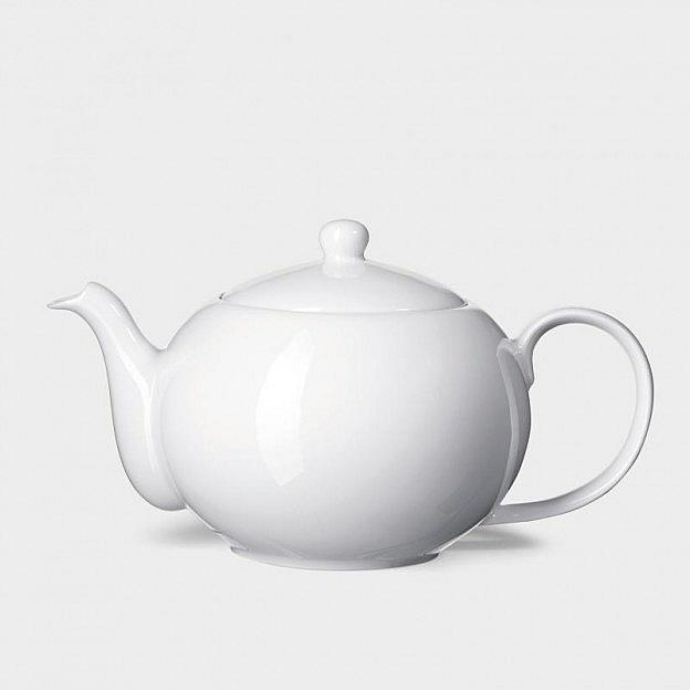 Weimarer Teekanne 0,9 l Porzellan mit Edelstahlsieb