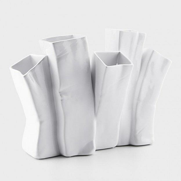 Vase Line Keramik, weiß