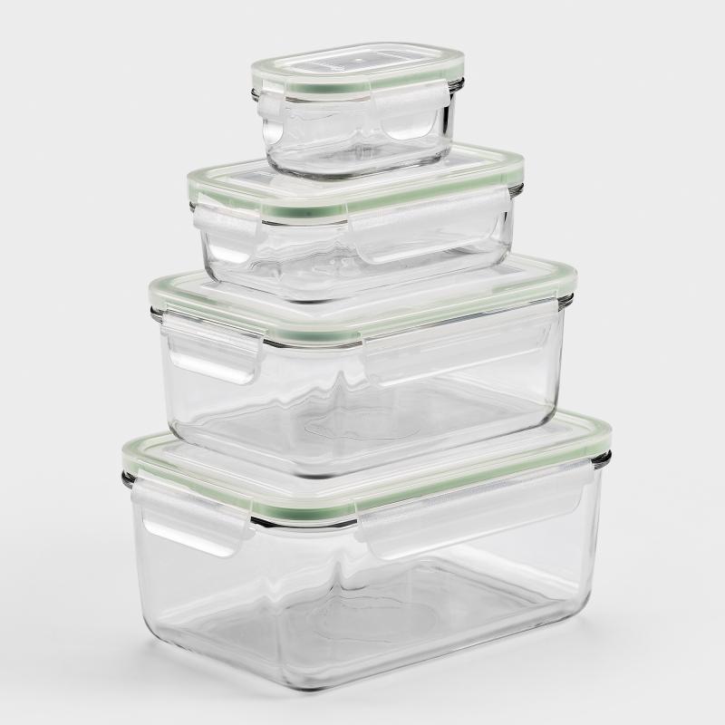 Glasbehälter mit deckel luftdicht