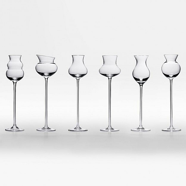 Glaskollektion für edle Destillate
