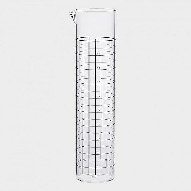 Wasserkaraffe mit Maßskala, 1 Liter