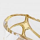 Vase Kristallglas goldverziert