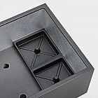 Pflanzgefäß Quader Aluminium grafit