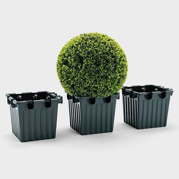 Pflanzkübel Langzeitbewässerung 3er-Set