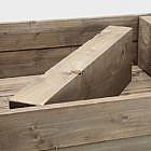Balkonhochbeet mit Rädern breit, Stahl
