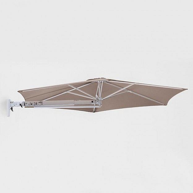 Sonnenschirm zur Wandbefestigung, taupe