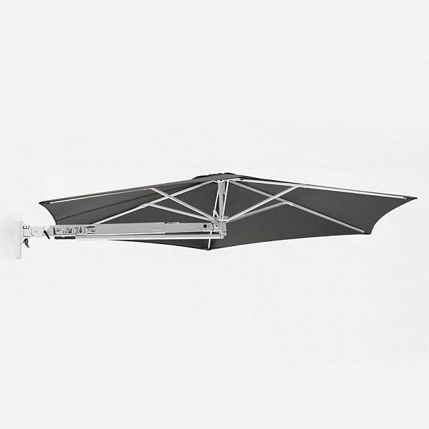 Sonnenschirm zur Wandbefestigung, anthrazit