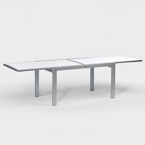 gartentisch aluminium hpl ausziehbar 140 cm bis 280 cm. Black Bedroom Furniture Sets. Home Design Ideas