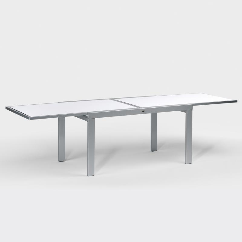 Gartentisch Aluminium/HPL Ausziehbar 140 Cm Bis 280 Cm