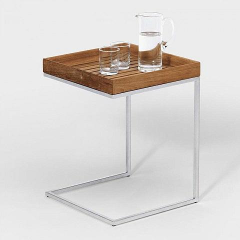 beistelltisch stahl robinie biber umweltprodukte versand. Black Bedroom Furniture Sets. Home Design Ideas