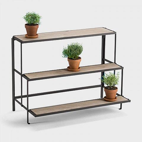 faltbares blumen regal stahl biber umweltprodukte versand. Black Bedroom Furniture Sets. Home Design Ideas