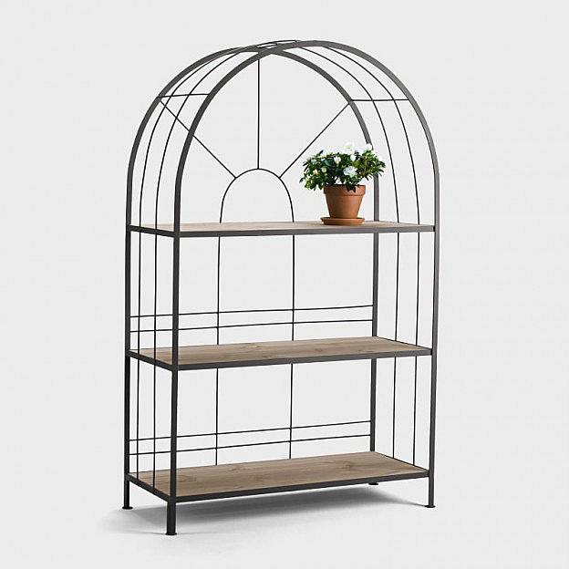 Terrassen-Regal Stahl, breit