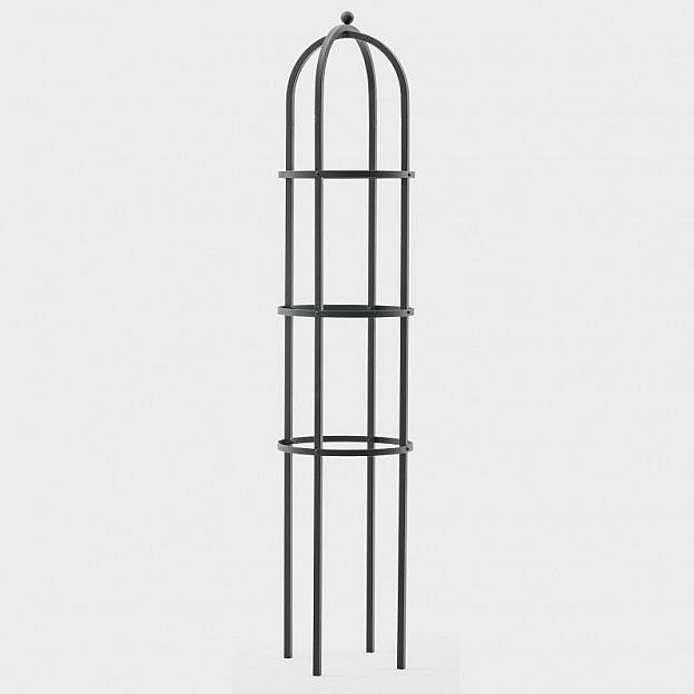 Obelisk Stahl, rund 240 x 65 cm