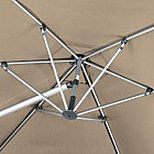 Pendelschirm Aluminium/PES 320 cm, taupe