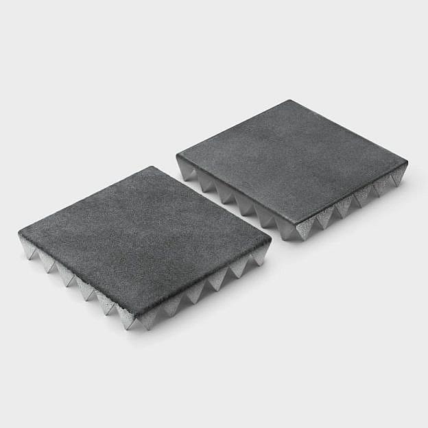 Beet- & Rasentrittplatte, Stahl 2er-Set