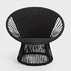 Lounge Sessel Ray Alu/PES, schwarz