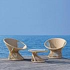 Lounge Sessel Ray Alu/PES, sandfarben