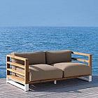Lounge-Gartensofa Alu/PP