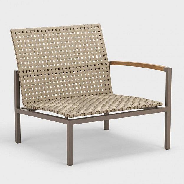Lounge-Seitenelement Palma, Gurtbespannung, Armlehne links