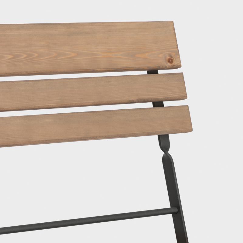 Gartenbank klappbar Stahl/Holz - Biber.com
