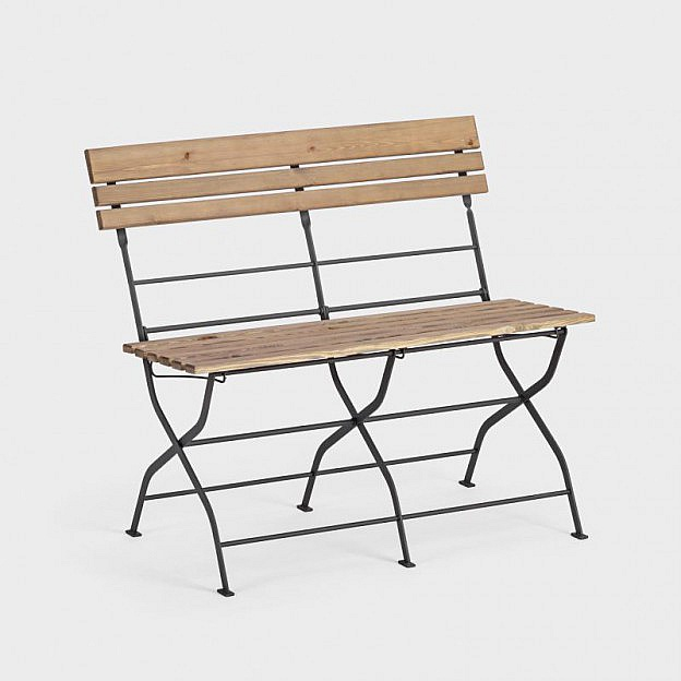 Gartenbank Klappbar Stahl Holz