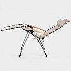 Komfortliegestuhl Aluminium mit Robinienholz-Armlehnen, natur