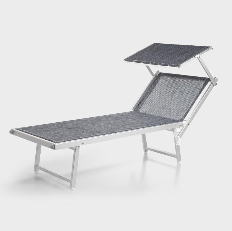 Sonnenliege mit dach  Sonnenliege mit Dach, Aluminium - Biber.com