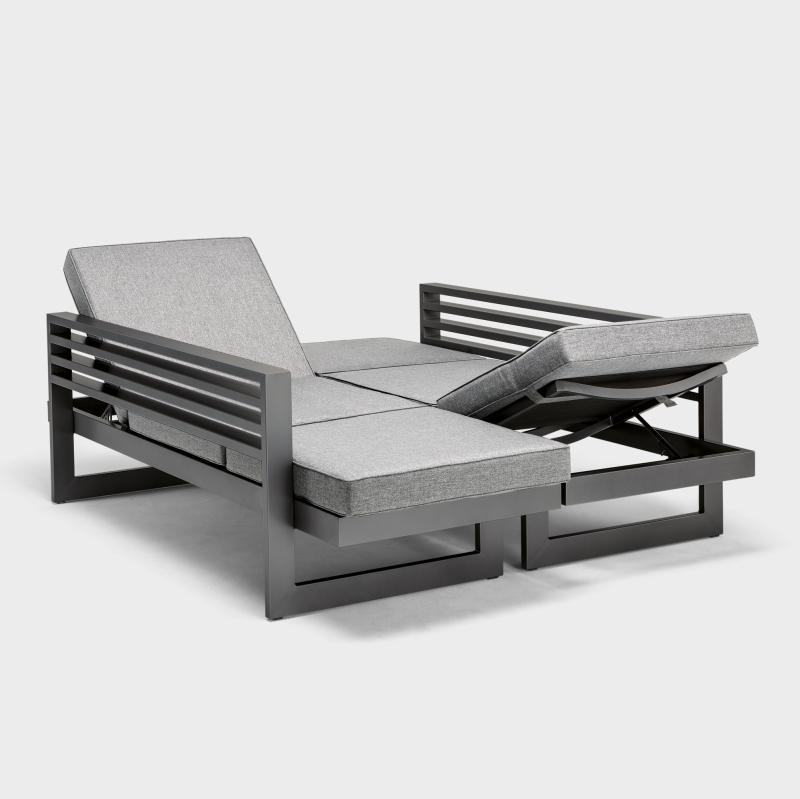 Lounge Liegemöbel Aluminium, Anthrazit