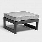 Sitzkissen für Eckelement, grau meliert