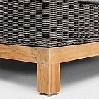 Lounge-Gartensofa 3-Sitzer Aluminium/Geflecht/Teak