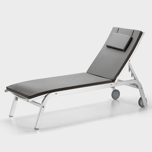 auflage f r sonnenliege mit rollen anthrazit. Black Bedroom Furniture Sets. Home Design Ideas