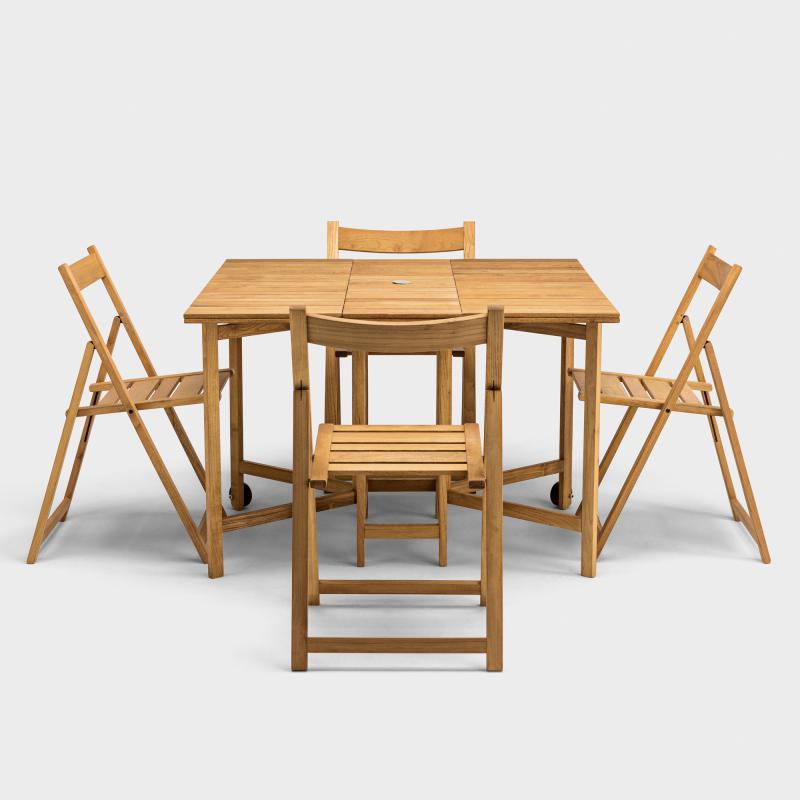 Balkongarnitur Robinie (1 Tisch, 4 Stühle) - Biber.com