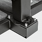 Pendelschirm Aluminium 300 x 400 cm, taupe