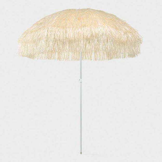 Sonnenschirm mit Fransen, 200 cm